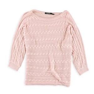 Ralph Lauren Womens Cable Knit Pullover Sweater